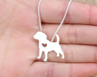 Pug Love Silver Necklace