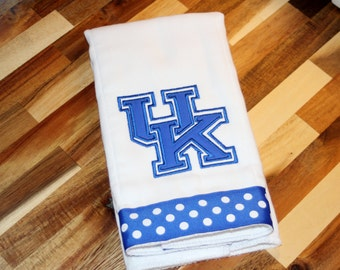 Kentucky Logo Burp Cloth - Can be personalized with name