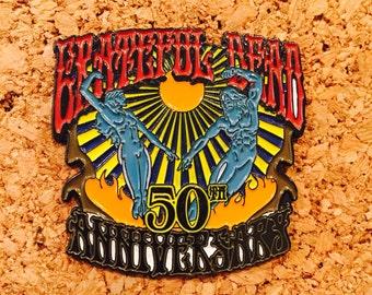 Grateful Dead 50th anniversary hat pin