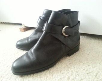 Vintage Black Danexx Ankle Boots