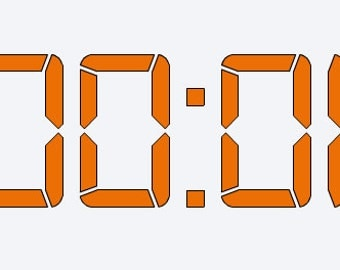 One Second Time Clock Auburn Decal