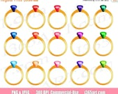 50% OFF SALE Ring Clipart...