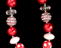 Valentine Chunky Bubblegum bead necklace