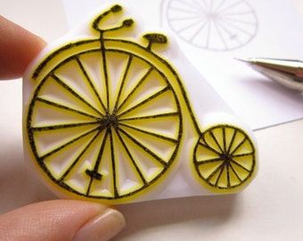 Vintage Retro Bicycle rubber stamp