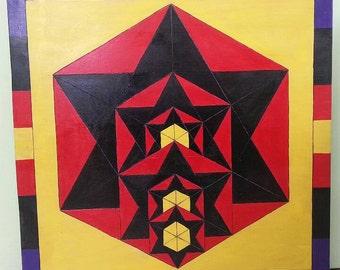 Hexagon nesting fractals