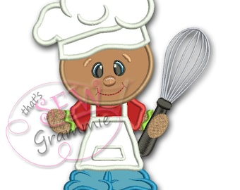 Baking Ginger Boy with Whisk