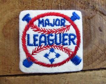Vintage Baseball Major Leaguer Patch - Major League Baseball Patch