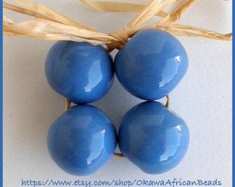 Okawa African Ceramic  Beads in Blue