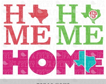 Texas HOME - .svg/.eps/.dxf/.ai for Silhouette Studio, Cricut, or other cutting software