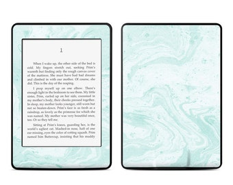 Amazon Kindle Skin - Winter Green Marble - Sticker Decal - Fits Paperwhite, Fire, Voyage, Touch, Oasis
