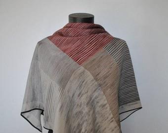 Vintage NINA BELOTTI printed silk scarf...(043)