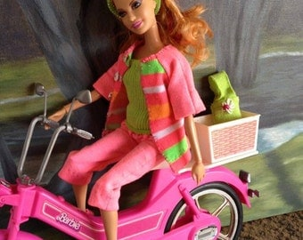 Barbie Doll Spring Fling Outfit - Capris, Tube Top, Cardigan, Shoes, Bag, and Headband