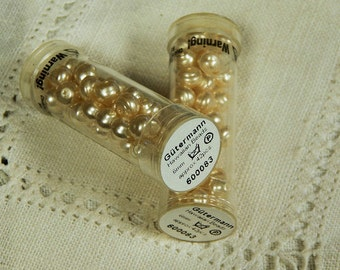 Gutermann - Czech -  6mm Hawaiian Beads - Pearl Color - By The Tube