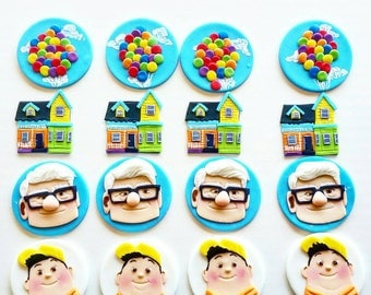 Up movie fondant cupcake toppers