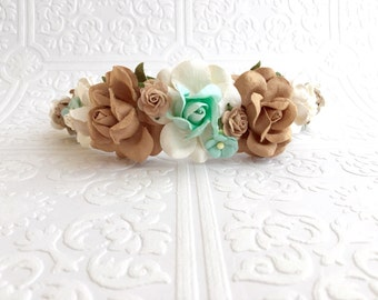 The Mocha and Mint Goddess Floral Crown