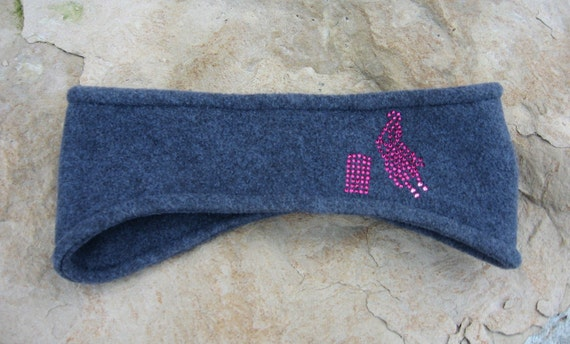 Western Pink Barrel Racer Headband, Fleece Ear Warmer, Womens Accessories, Winter Wear, Skiing