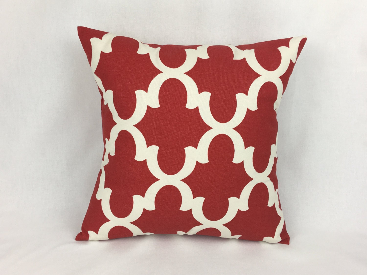 Red Pillow Couch Pillow Cover Red Throw Pillow Cover 20x20