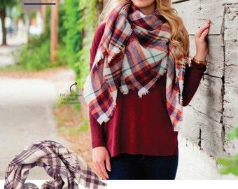 Blanket Scarves *Monogram Option Available*