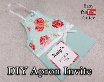 Printable Apron Invitation | Kitchen Tea/Bridal Shower invitation