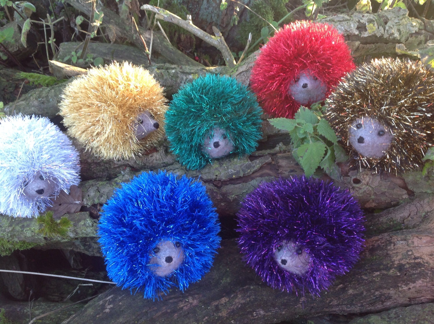 Sparkly Hedgehog Knitting Pattern : Hedgehogs With Sparkle Prickles