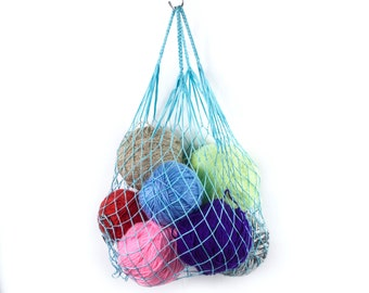 Bag balls, Eco Friendly Shopping Net Bag, Great for go to the beach, hold dirty clothes, toys, beach accessories, Color #5353