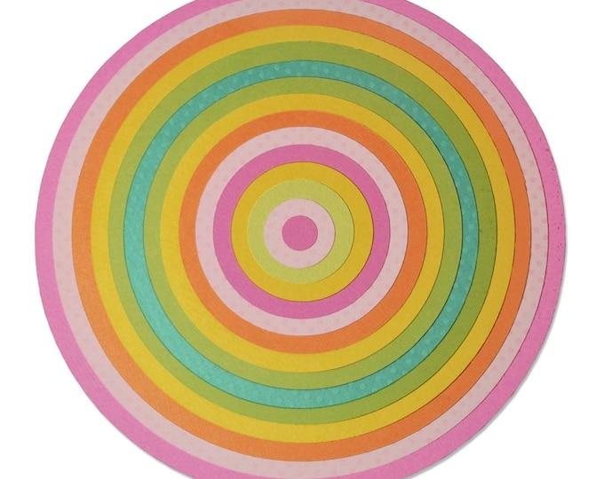 New! Sizzix Framelits Plus Die Set 15PK for the Big Shot Plus Machine - Circles
