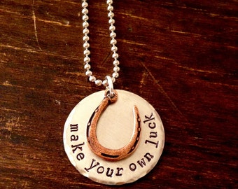Make Your Own Luck necklace