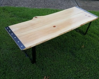 Lovely Live Edge Florida Cypress Coffee Table