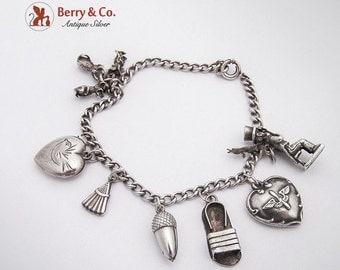 SaLe! sALe! Vintage Charm Bracelet Sterling Silver