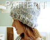 Basic Beanie Pattern, Chunky Hat Pattern, Two Tone Beanie, PDF Download