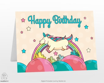 printable birthday cards Instant Download Digital Template