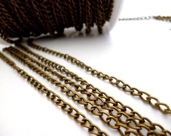 3 mm Brass Chain_MA56465445NYA_OF 0/2 IN_of 3 mm_5 meters__16 FT_Chains