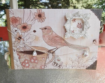Shabby Chic Tea Paper Bag Mini Album