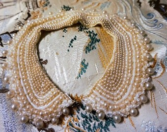 1950's Pearl and Bead Detachable Collar