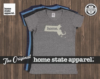 Massachusetts Home. T-shirt- Womens Cut