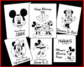 Mickey & Minnie Personalized Coloring Book