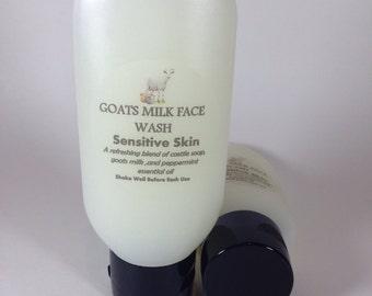 Goats milk face wash