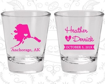 Alaska Shot Glass, Alaska Shot Glasses, Alaska Glass, Alaska Glasses, Alaska Glassware (101)