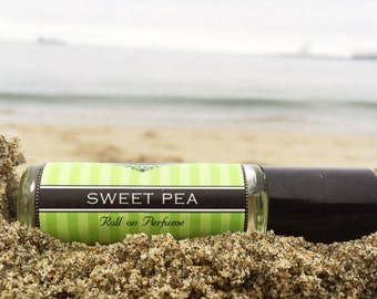 SWEET PEA Perfume oil , get 25% off your FIRST order, Birthday Gift, long lasting perfume