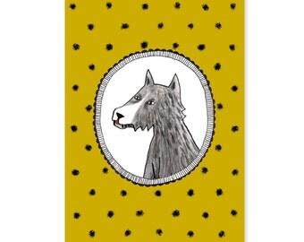 "Postcard ""Wolf"""