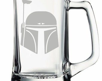 Star Wars Boba Fett Etched Mug Personalized