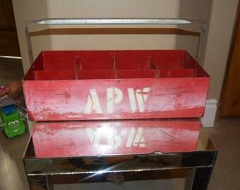 Antique Metal milk crate - MJ