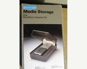 On Sale Vintage 1983 Rubbermaid Media Storage Case: Mini/Micro Cassette File, Unused in Original Box, Cassette Disc Storage