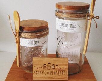 Bamboo Stopper (storage Jar)