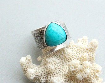 Arizona turquoise ring,  sterling silver 925, Handcrafted Ring