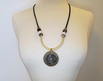 Signed, Sealed, Delivered / Men's Vintage Chinese Dragon Jade Pendant Necklace