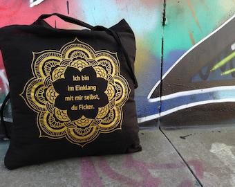 You fucker - jute bag, gold