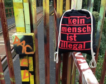 No one is illegal - gym bags, Red