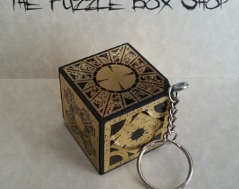 Hellraiser Puzzle Box Cube KEYCHAIN Hand Crafted Key Chain