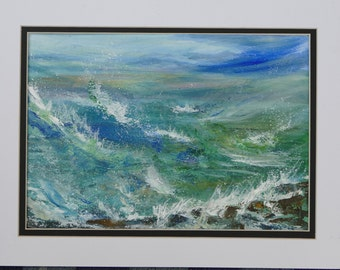 """Acrylic painting """"The colours of the sea"""""""